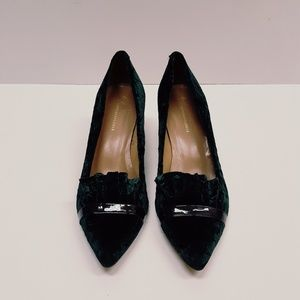 Anthropologie velvet heels